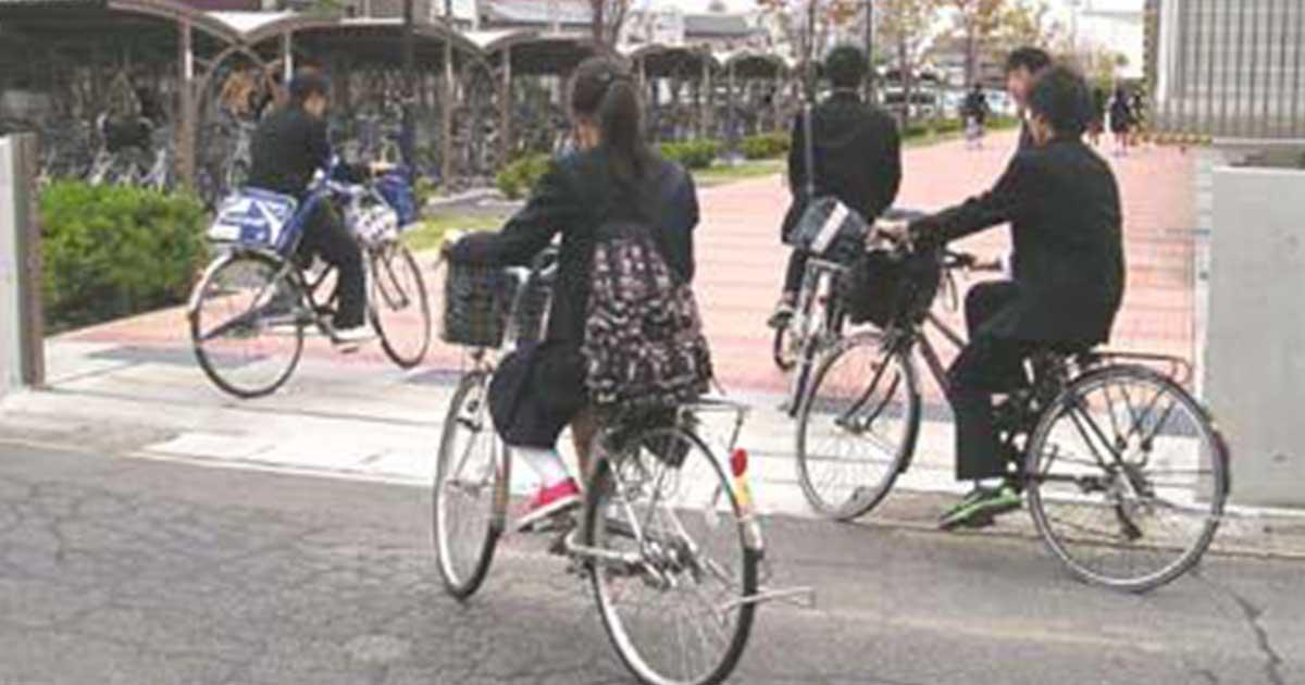 高校生〜自転車通学